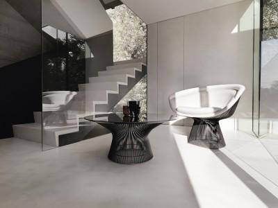 Knoll Studio Harry Bertoia Kollektion_Sessel_Tisch_Milieu_2013